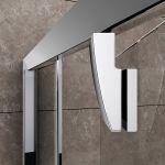 Varstomos dušo durys Ravak Pivot, PDOP1-80, blizgi+stiklas Transparent