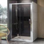 Stumdomos dušo durys Ravak 10°, 10DP2-100, blizgi+Transparent