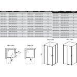 Stačiakampės dušo kabinos sienelė Ravak Chrome, CRV2-90, balta+stiklas Transparent