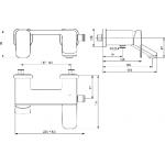 Vonios maišytuvas Ideal Standard, Tonic II
