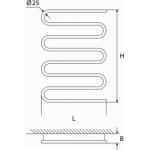 Elektrinis rankšluosčių džiovintuvas-gyvatukas Elonika, EE 800 S D.P. 100W