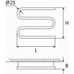 Elektrinis rankšluosčių džiovintuvas-gyvatukas Elonika, EE 360 S3K K.P. 40W