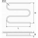 Elektrinis rankšluosčių džiovintuvas-gyvatukas Elonika, EE 400 S3K K.P. 60W