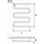 Elektrinis rankšluosčių džiovintuvas-gyvatukas Elonika, EE 400 S5K D.P. 60W