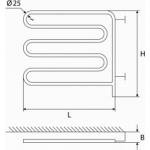Elektrinis rankšluosčių džiovintuvas-gyvatukas Elonika, EE 800 SLD D.P.