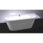 Akmens masės vonia Vispool Evento, 175x75 cm stačiakampė balta