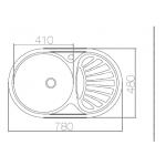 Nerūdijančio plieno plautuvė Asil Krom, AS 06 48x78 matinis paviršius