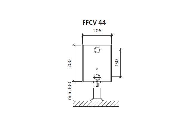 Radiatorius PURMO FFCV 44 200-, 1600, pajungimas apačioje (be laikiklių)