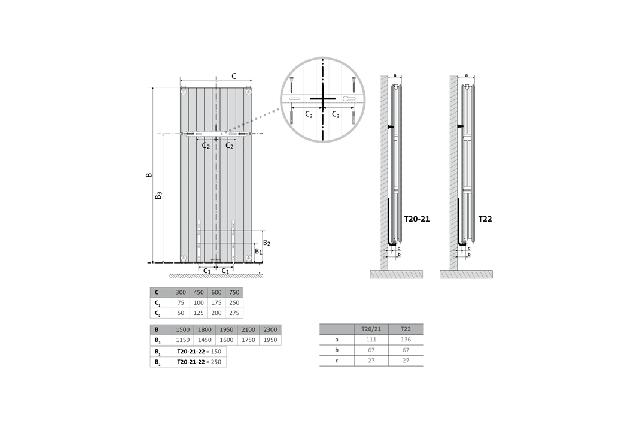 Radiatorius PURMO Faro V 22 , 2100-450