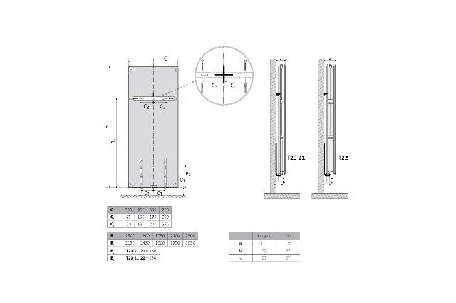 Radiatorius PURMO Kos V 22 , 1800-450
