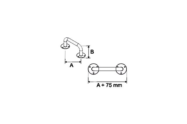 Stacionari rankena neįgaliesiems Corrado, 1000 mm, balta