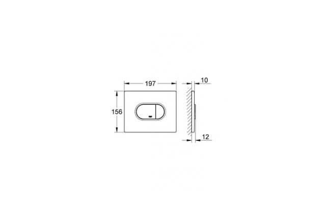 WC klavišas Grohe, Arena Cosmopolitan, chromas, horizontalus