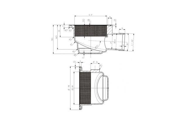 Sifonas S-LINE dušo padėklui