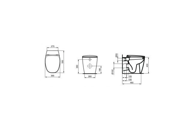 WC puodas IDEAL STANDARD Dea pristatomas su soft-close dangčiu