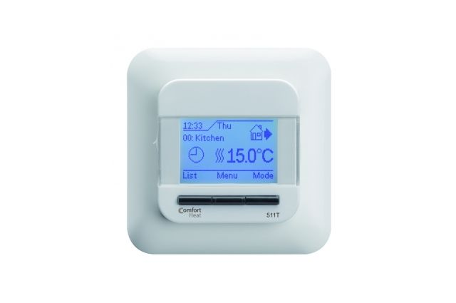 Termostatas Comfort Heat, C511T rėmeliui stačiakampiais kraštais