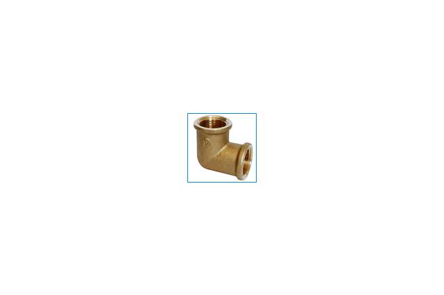 Žalvarinė alkūnė, d , 1/2'', 90*, vidus-vidus