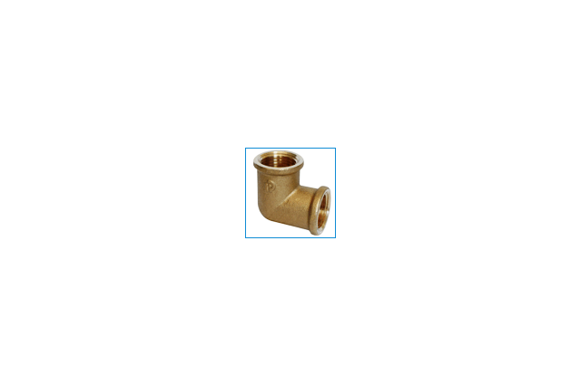 Žalvarinė alkūnė, d , 3/4'', 90*, vidus-vidus