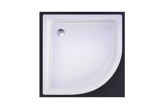 Akmens masės dušo padėklas Vispool, R-90 (R550)