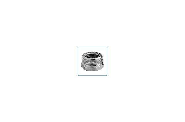 Žalvarinė chromuota redukcija, d , 1/2''-3/8'', išorė-vidus