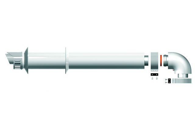 Dūmtraukis dujiniam katilui, Ariston 60/100, baltas