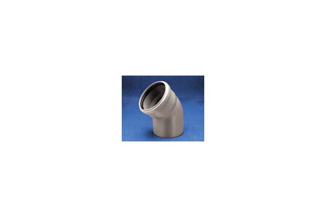 Vidaus kanalizacijos alkūnė Wavin Optima, d50, 45°
