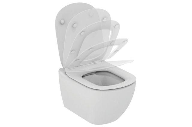 Jaukurai Grohe rėmas su WC Ideal Standard Tesi Rimless