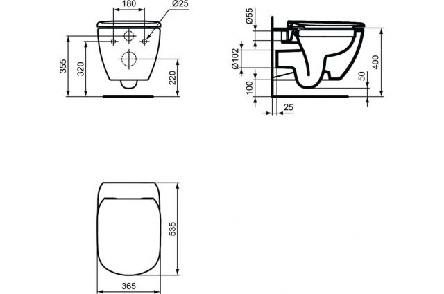 Jaukurai WC Ideal Standard Tesi Rimless