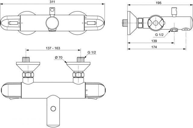 Jaukurai Ideal Standard Ceratherm