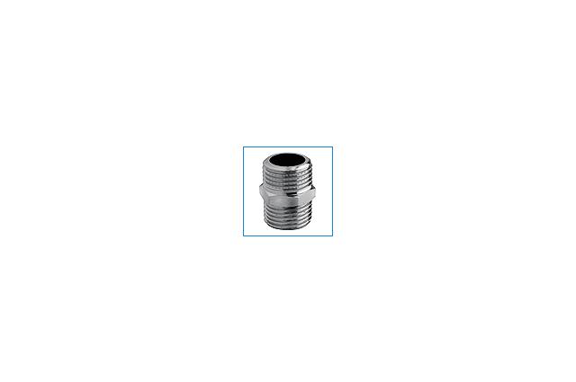 Žalvarinis chromuotas sujungimas, d , 1/2'', išorė-išorė