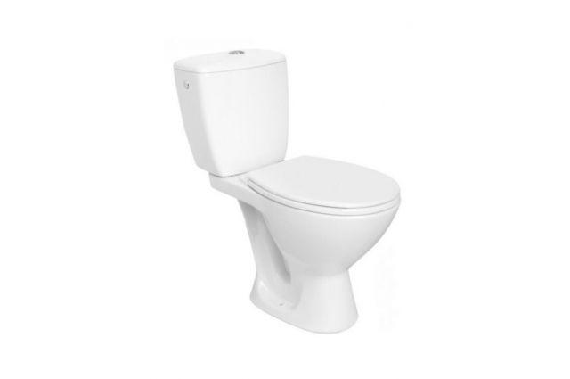 Pastatomas WC Cersanit, Kaskada su dangčiu, vertikalus pajungimas