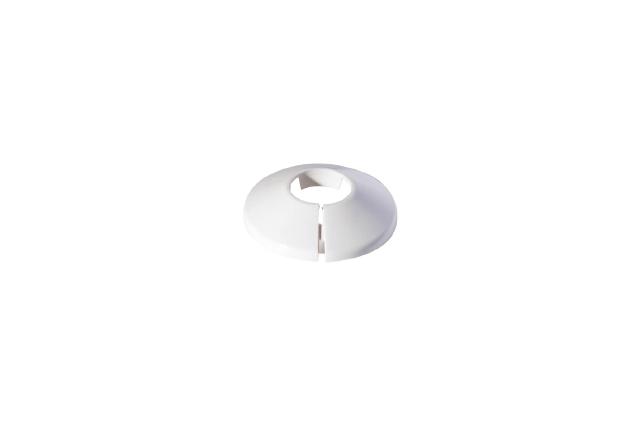 Vamzdžio rozetė, vienguba balta, d28