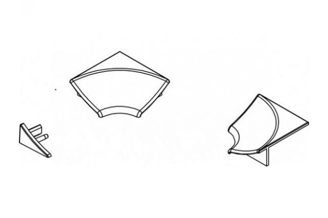 Jaukurai apdailos juostelės kampelių komplektas tipas 6