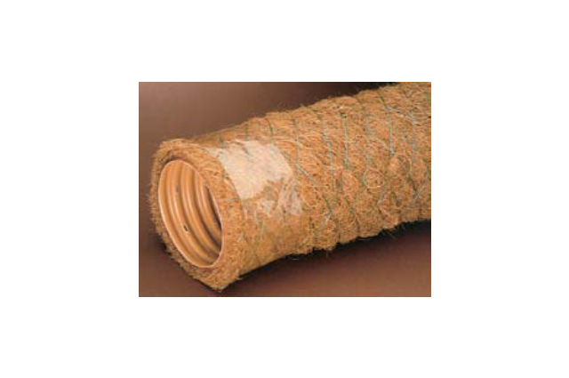 Drenažo vamzdis su kokoso pluošto filtru, d 80 (kaina už 1 m)