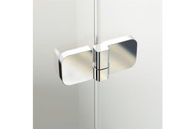 Stačiakampė dušo kabina Ravak Brilliant, BSDPS-80 L chromas+stiklas Transparent
