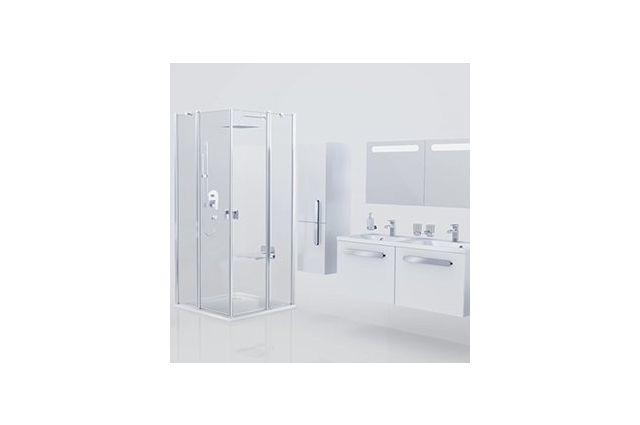 Lietas dušo padėklas Ravak Perseus Pro Chrome, 90 baltas