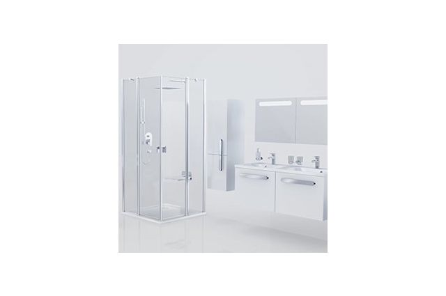 Lietas dušo padėklas Ravak Perseus Pro Chrome, 100 baltas