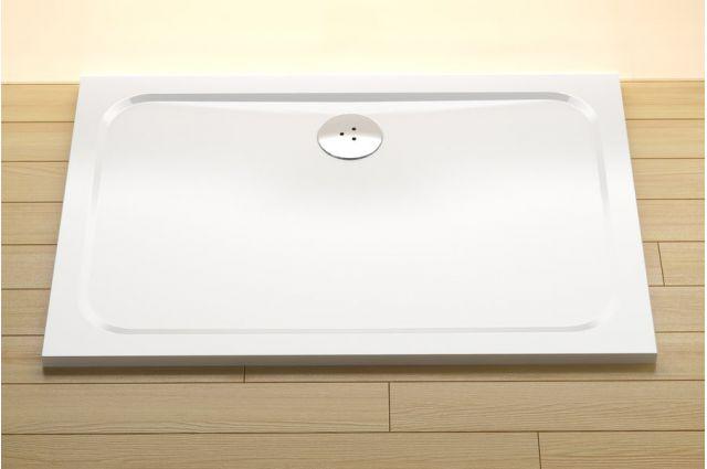 Lietas dušo padėklas Ravak Gigant Pro Chrome, 110x80 baltas