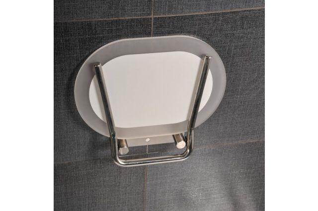 Dušo sėdynė Ravak, Chrome, skaidri/nerūdijančio plieno
