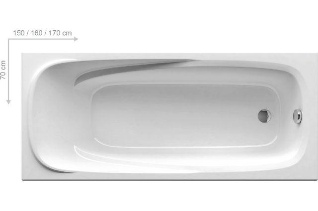 Stačiakampė vonia Ravak Vanda II, 170x70