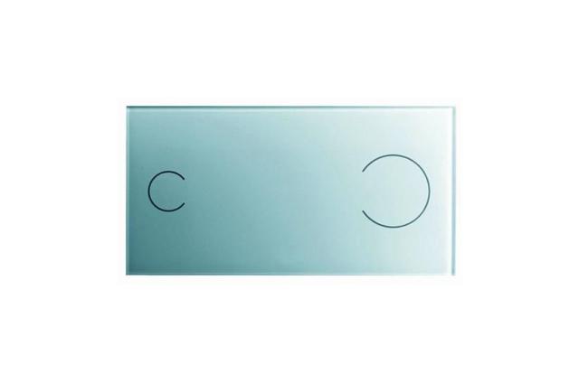 WC klavišas VISIGN FOR MORE 100 stklas/šviesiai pilkas