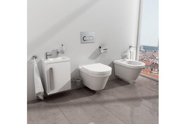 WC klavišas Ravak, Chrome baltas