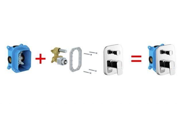 Potinkinis maišytuvas Ravak 10°, TD 065.00 su jungikliu, skirtas R-box