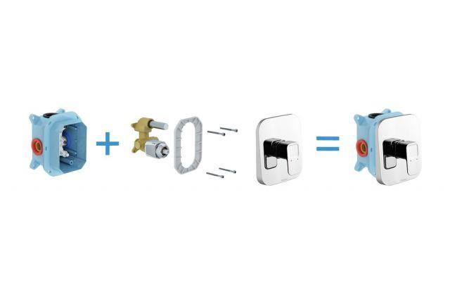 Potinkinis maišytuvas Ravak 10°, TD 066.00 be jungiklio, skirtas R-box