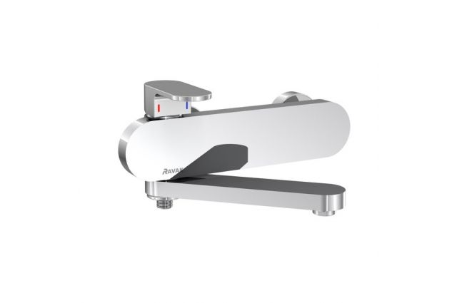 Sieninis maišytuvas Ravak Chrome, voniai/dušui CR 022.00/150