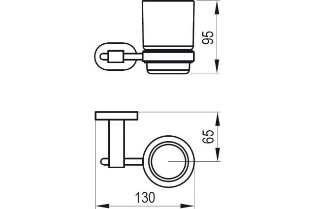 Laikiklis Ravak Chrome, CR 210.00 su stikline