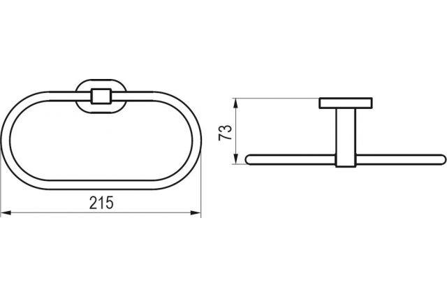 Rankšluosčių laikiklis Ravak Chrome, CR 300.00 ovalus