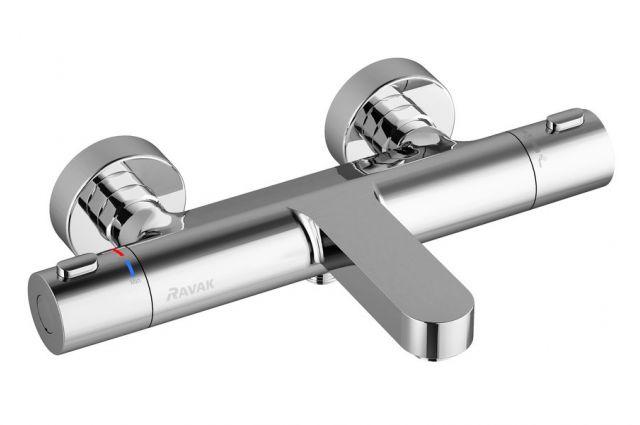 Sieninis termostatinis maišytuvas Ravak Termo 300, voniai/dušui TE 023.00/150