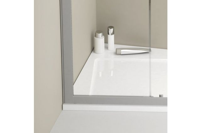 Lietas dušo padėklas Ravak Asymetric Pro 10°, 120x90 R balta