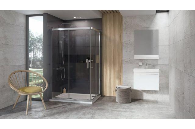 Lietas dušo padėklas Ravak Gigant Pro 10°, 100x80 L balta