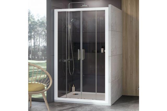 Stumdomos dušo durys Ravak 10°, 10DP4-140, balta+Transparent